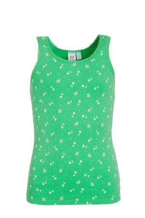 gebloemde singlet groen