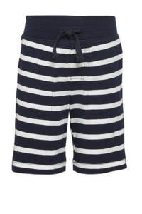 GAP gestreepte regular fit bermuda donkerblauw/wit, Donkerblauw/wit