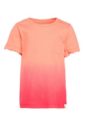 tie-dye T-shirt roze/oranje