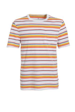 gestreept T-shirt oranje/multi