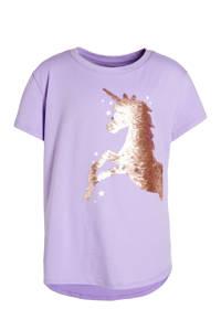 GAP T-shirt met biologisch katoen lila, Lila