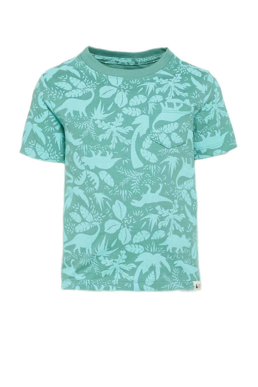 GAP T-shirt met all over print groen, Groen