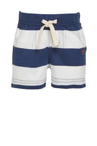 GAP baby gestreepte regular fit sweatshort met biologisch katoen donkerblauw/wit, Donkerblauw/wit