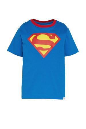T-shirt met afneembare Superman cape blauw/rood