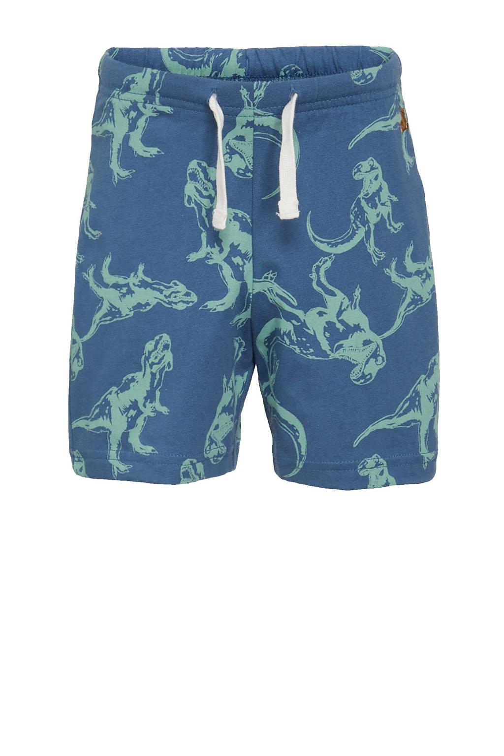 GAP regular fit sweatshort met all over print blauw/groen, Blauw/groen