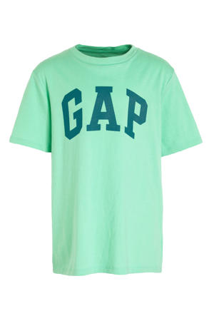 T-shirt met logo lichtgroen