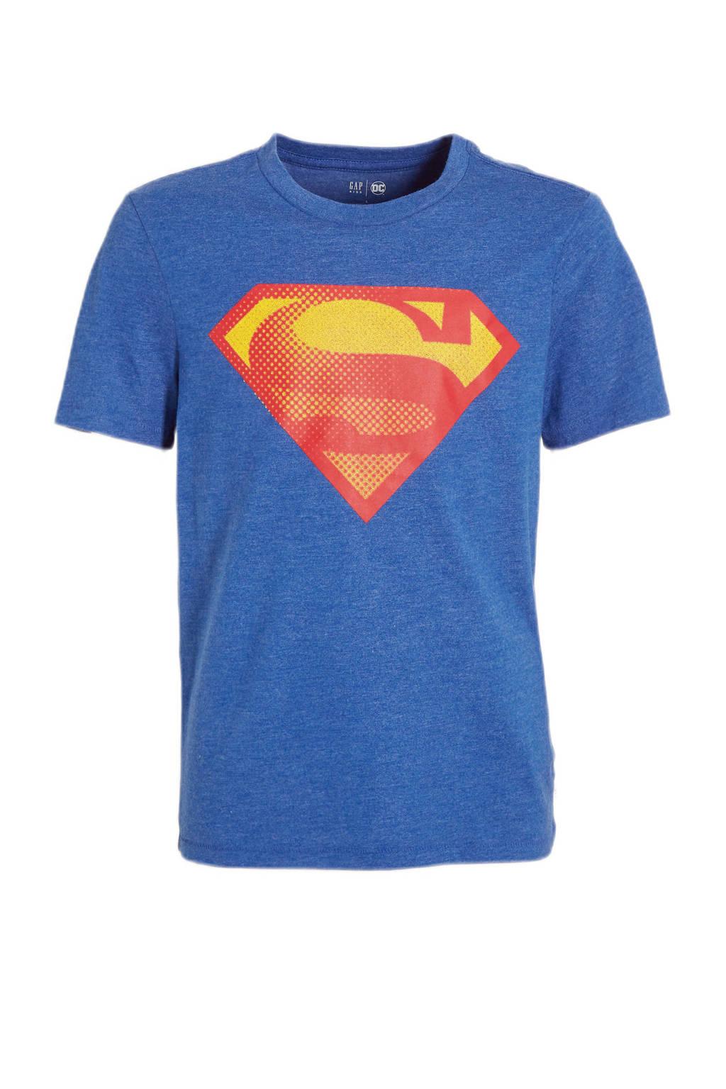GAP Superman T-shirt blauw, Blauw