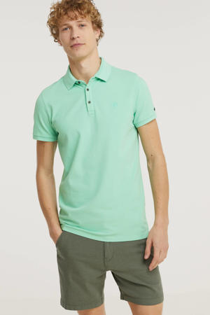 slim fit polo lichtgroen