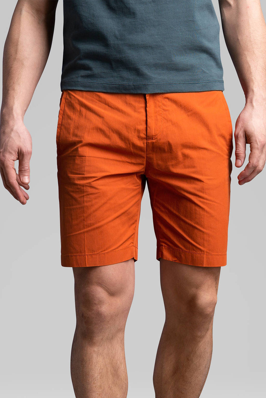 Cast Iron regular fit chino short oranje, Oranje