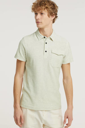 slim fit polo ecru