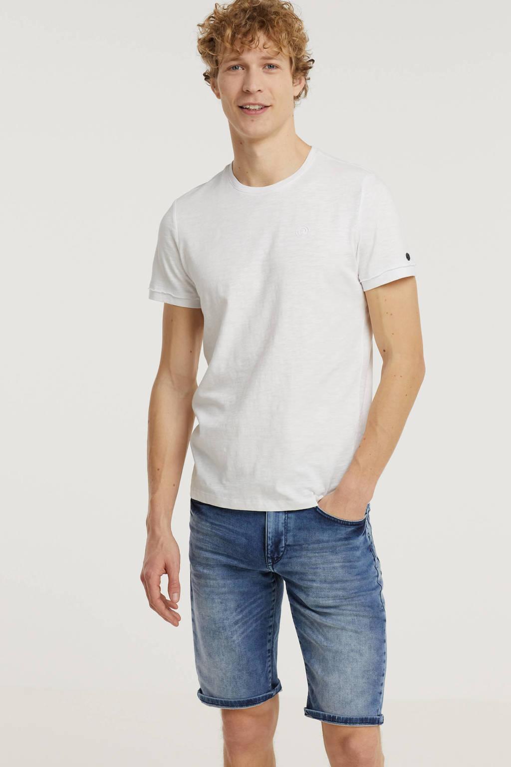 Cast Iron T-shirt wit, Wit