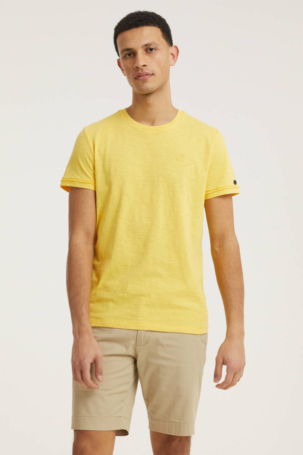 Cast Iron T-shirt geel, Geel