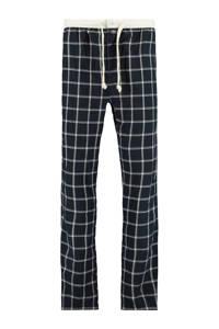 America Today geruite pyjamabroek Lake donkerblauw/wit, Donkerblauw/wit