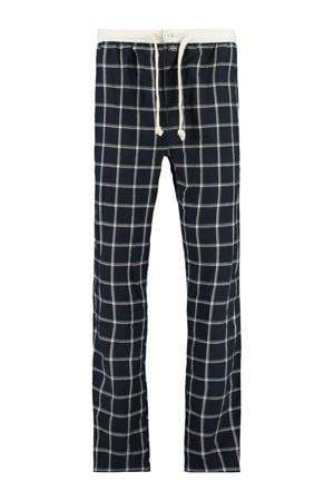 geruite pyjamabroek Lake donkerblauw/wit