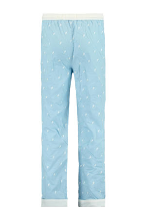 regular fit pyjamabroek Lake met all over print lichtblauw