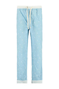 America Today Junior regular fit pyjamabroek Lake met all over print lichtblauw, Lichtblauw
