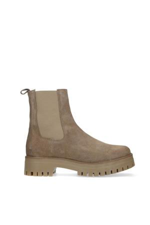 suède chelsea boots taupe