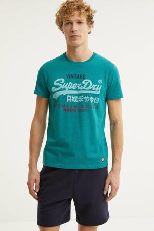 T-shirt met logo turquoise
