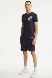 Superdry T-shirt met logo donkerblauw, Donkerblauw