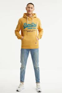 Superdry hoodie met logo geel, Geel