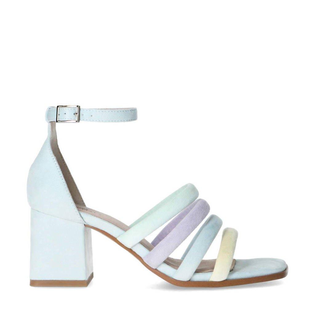 Sacha   sandalettes pastelblauw, Lichtblauw/multi