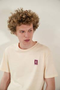 Kultivate T-shirt  LOST PARADISE met printopdruk  shortbread,  Shortbread