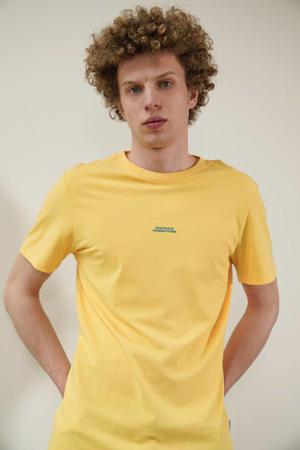 T-shirt van biologisch katoen geel