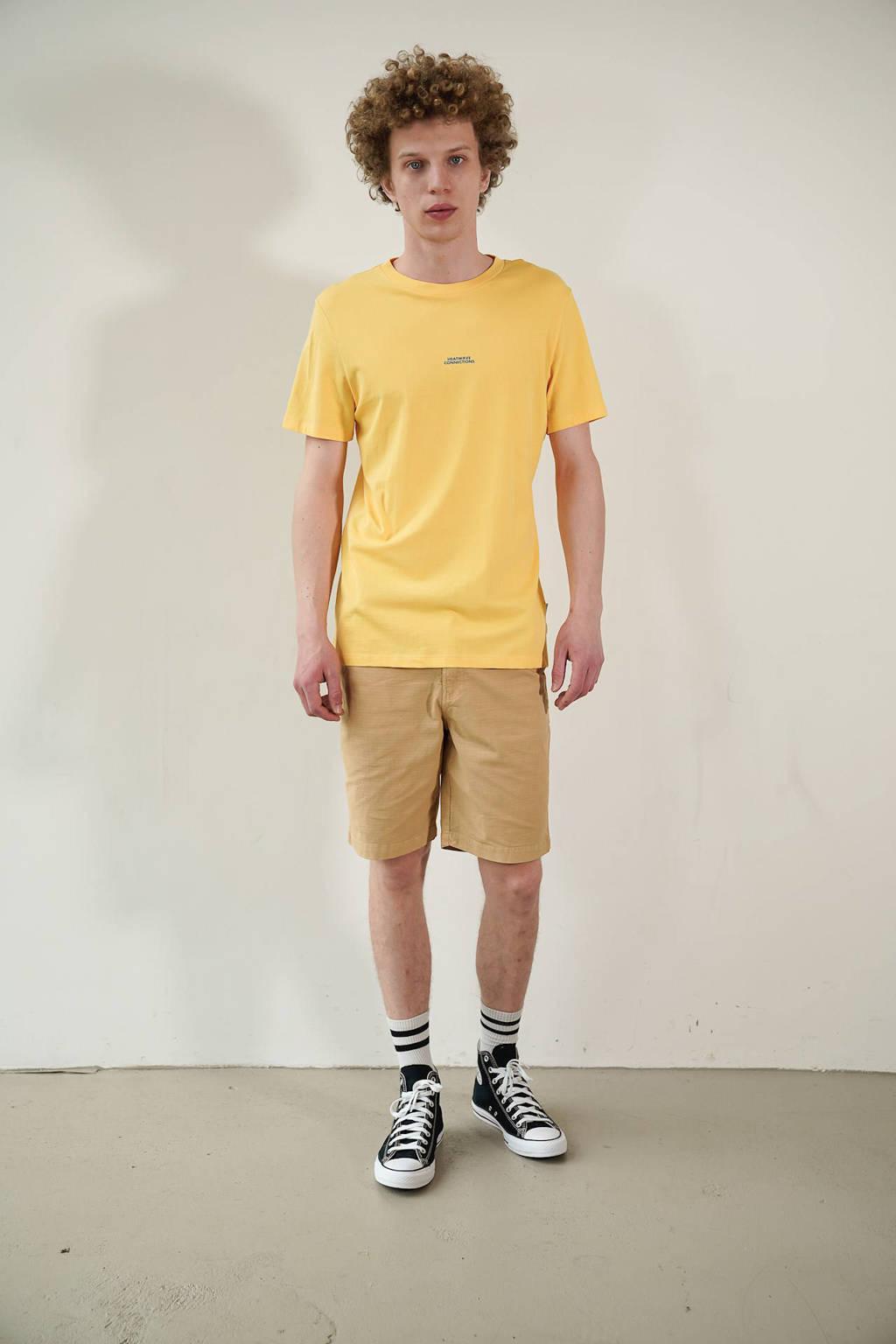 Kultivate T-shirt van biologisch katoen geel, Geel