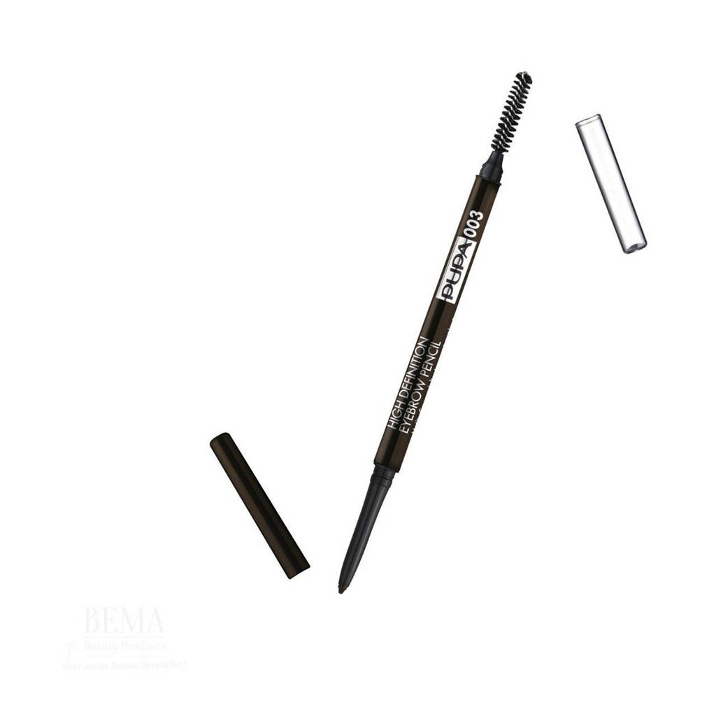 Pupa Milano High Definition Eyebrow Pencil wenkbrauwpotlood - 003 Dark Brown