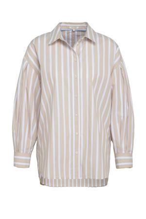 gestreepte blouse beige