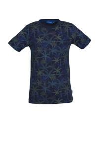 Someone T-shirt Borneo met all over print marine/blauw, Marine/blauw