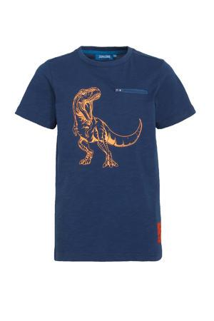 T-shirt Dinos met printopdruk blauw