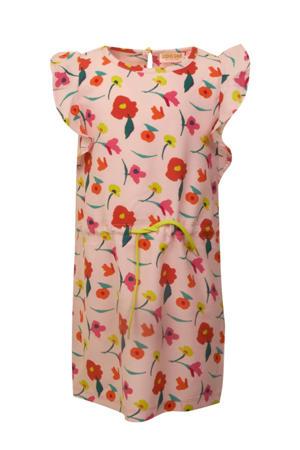 gebloemde jurk Fiore lichtroze/rood/geel
