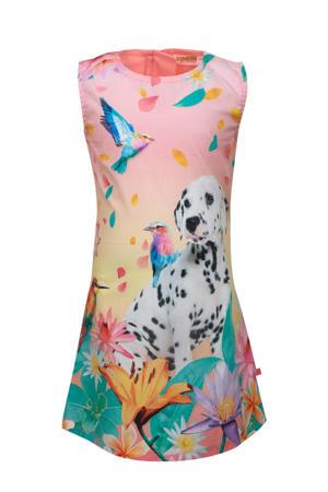 jurk Dalman met printopdruk roze/multicolor