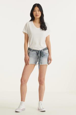 T-shirt met textuur wit