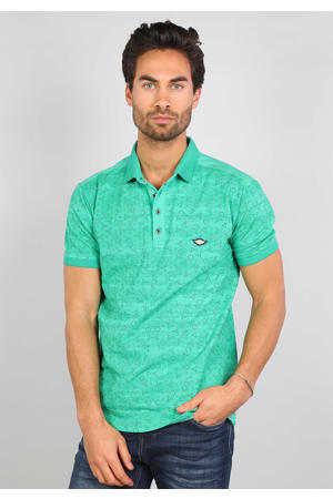 regular fit polo met all over print apple green
