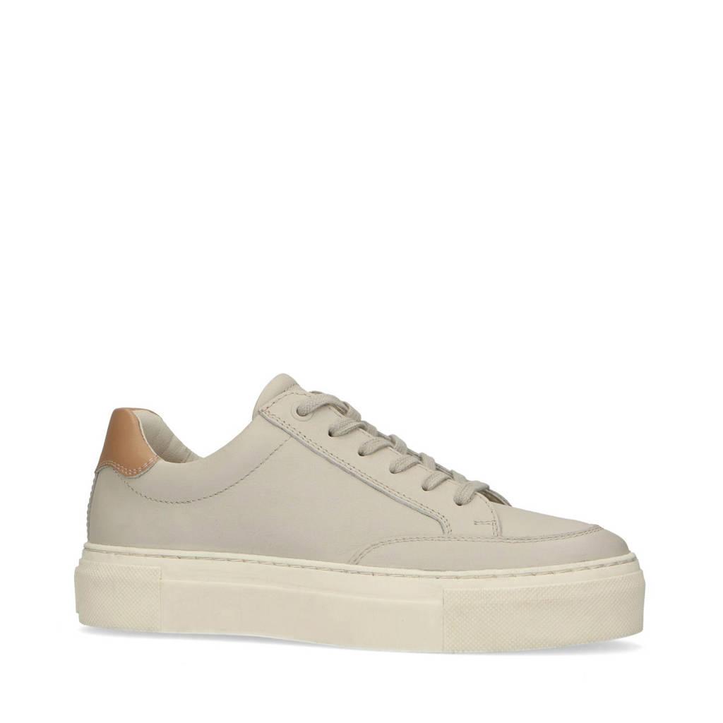 Sacha   leren plateau sneakers beige, Beige/bruin