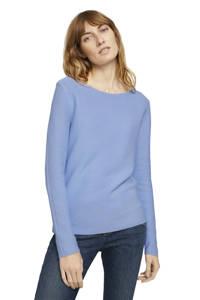 Tom Tailor trui met textuur blauw, Blauw