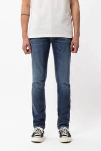 Nudie Jeans slim fit jeans Grim Tim van biologisch katoen indigo myth, Indigo Myth