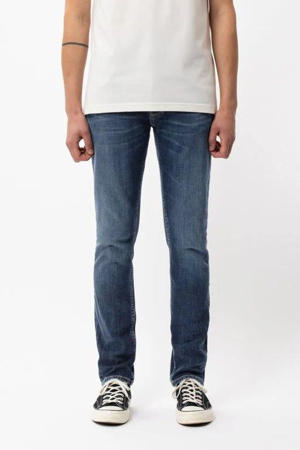 slim fit jeans Grim Tim van biologisch katoen indigo myth