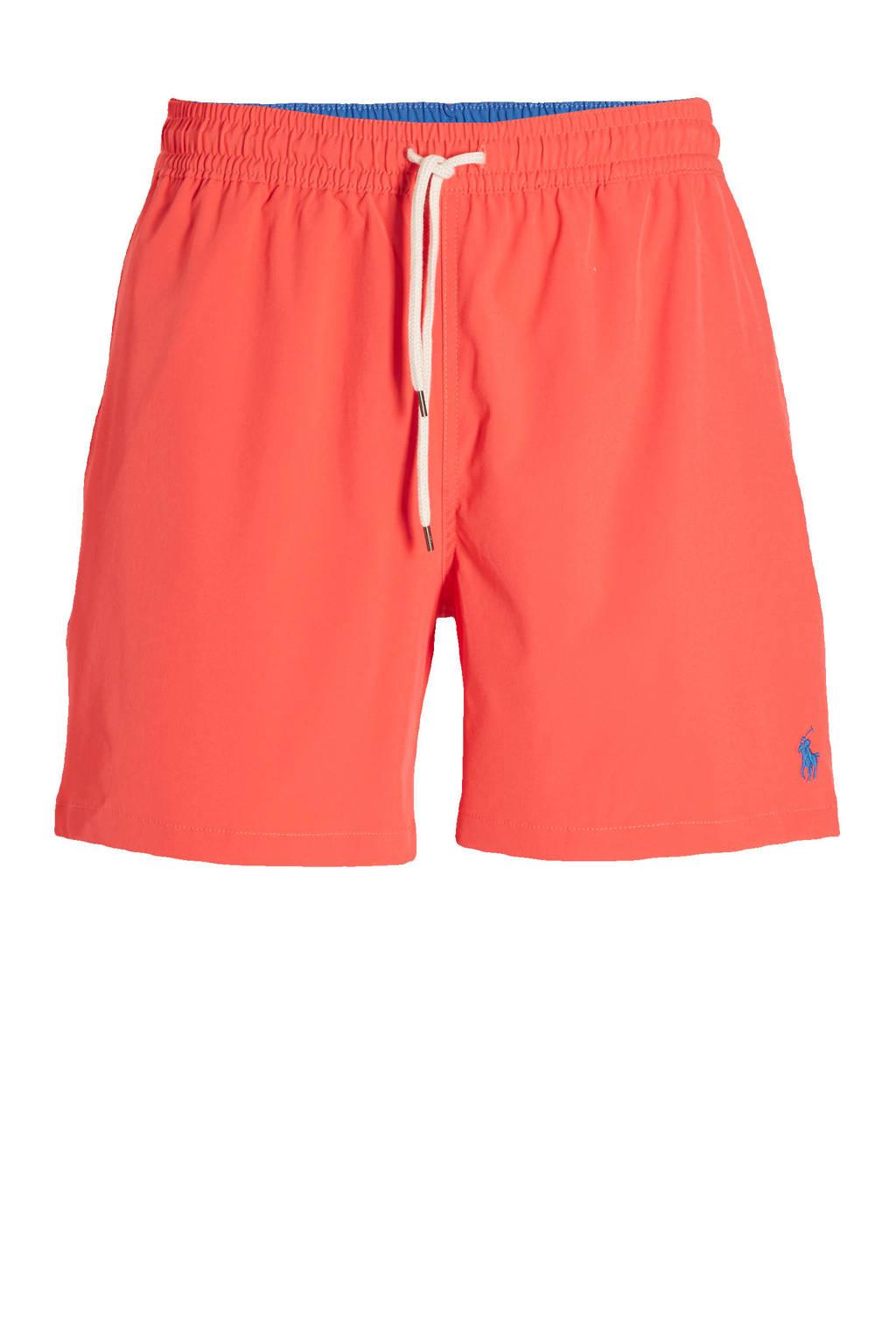 POLO Ralph Lauren zwemshort met geborduurd logo koraalrood, Koraalrood