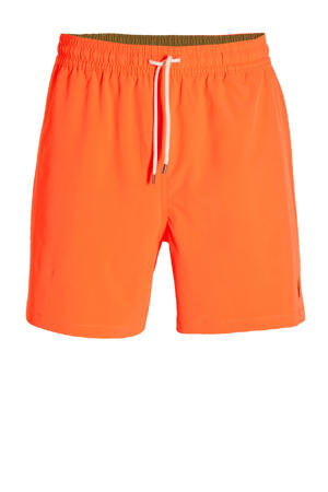 zwemshort met geborduurd logo oranje