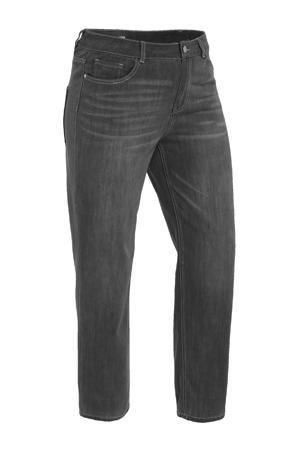 cropped high waist boyfriend jeans donkergrijs