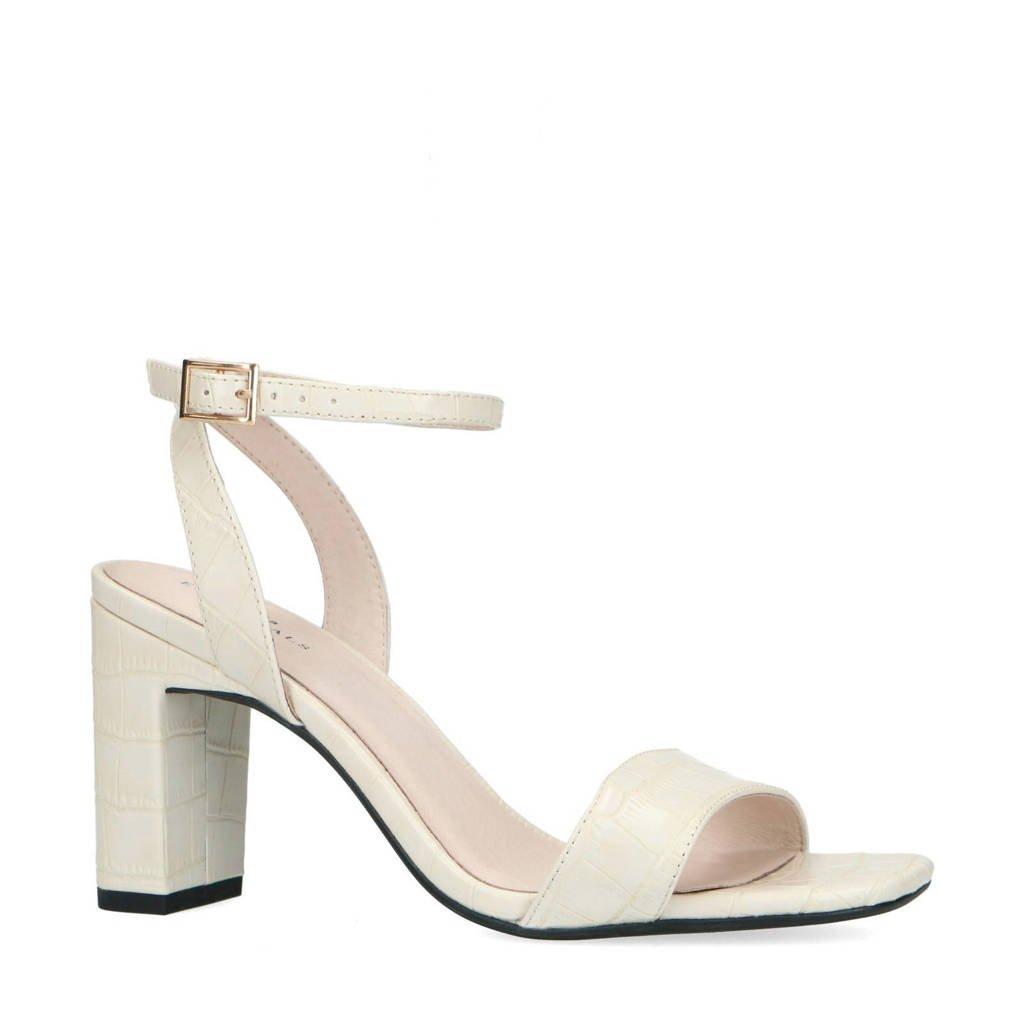 Sacha   sandalettes met crocoprint off white, Ecru/Off white