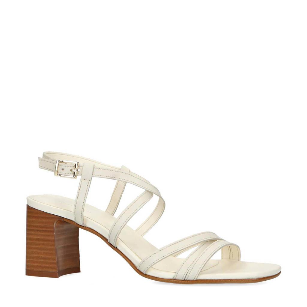 Sacha   leren sandalettes off white, beige/off white