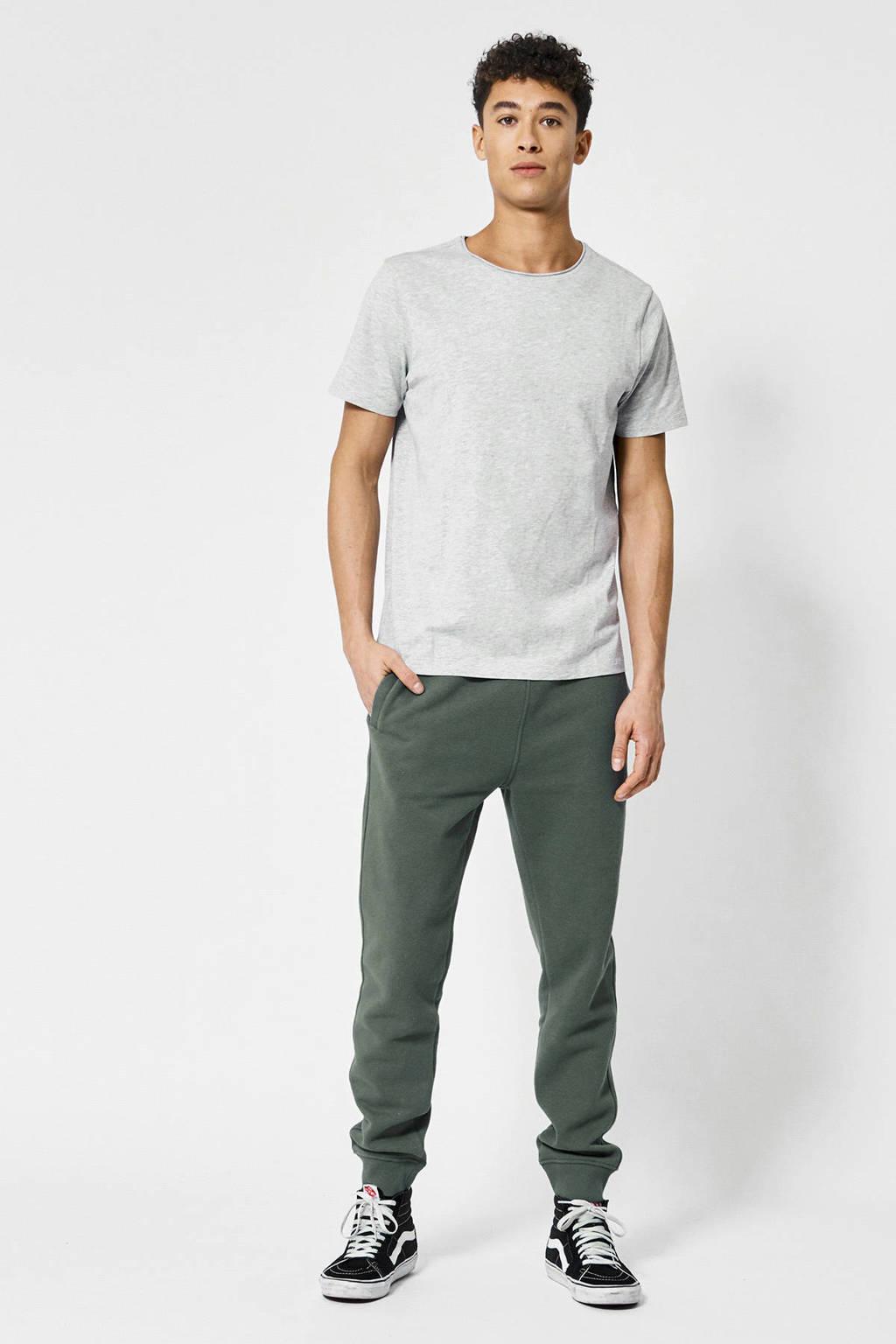 America Today T-shirt Took van biologisch katoen licht grijs melange, Licht grijs melange