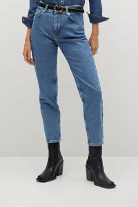 Mango high waist mom jeans blue
