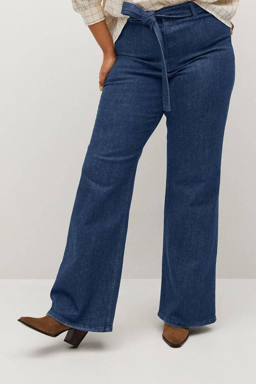 Violeta by Mango high waist loose fit jeans blue