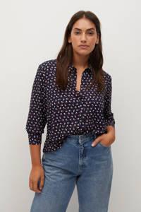 Violeta by Mango blouse met all over print marine, Marine