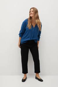 Violeta by Mango blouse blauw, Blauw